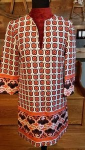 Tory Burch 100% Silk Floral Tunic
